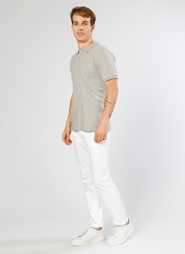 Cotton Bar Polo Yaka Tişört Gri